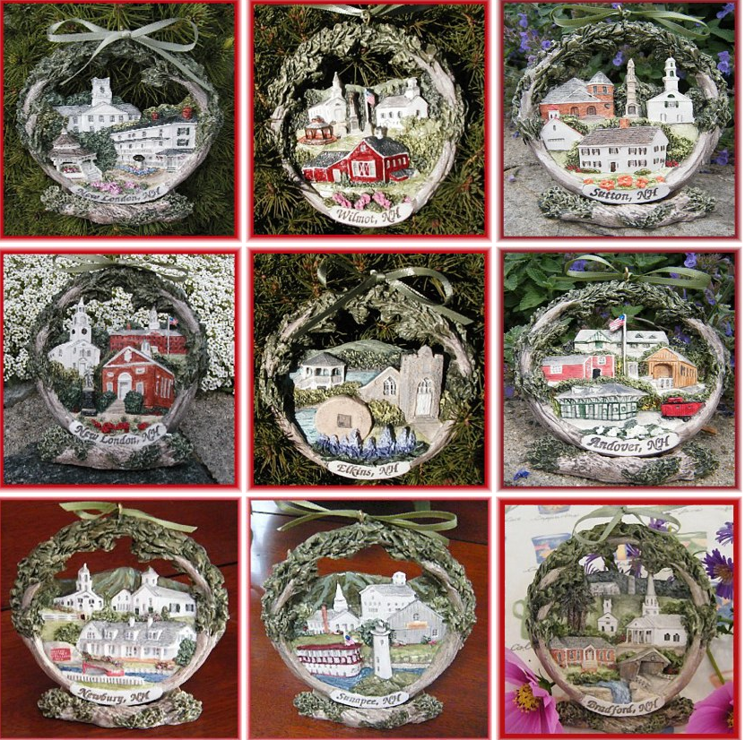 3D Ameriscape Ornaments available at Gourmet Garden in New London, NH