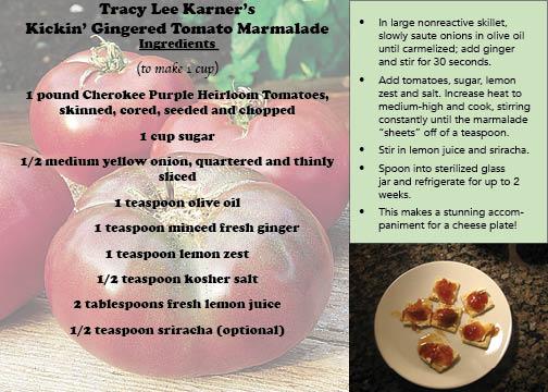 Tracy Lee Karner's Kickin' Gingered Tomato Marmalade